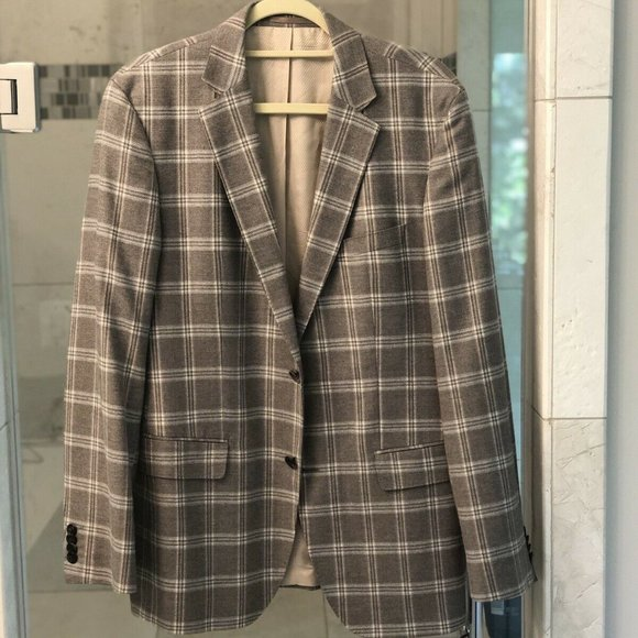 Hugo Boss Other - Hugo Boss Sports Cost Grey Windowpane Check Size40